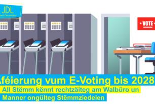 Einführung des E-Votings zur Parlamentswahl 2028